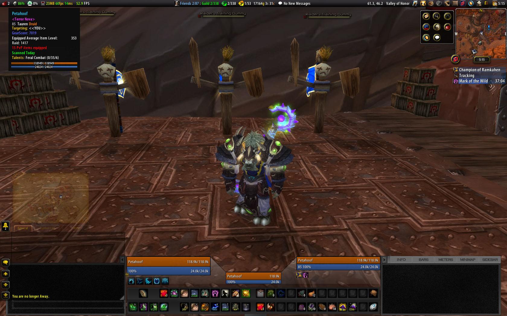 Petahoof's World of Warcraft Druid Key Bindings